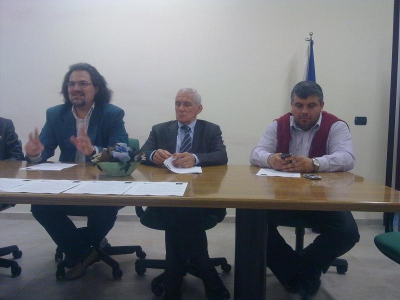 Stefano Venditti , Antonio Rosari e il consigliere dell'ordine dei giornalisti Vincenzo Cimino