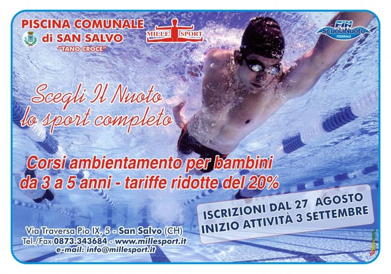 Scegli il nuoto lo sport completo corsi ambientamento per - Piscina comunale san salvo ...